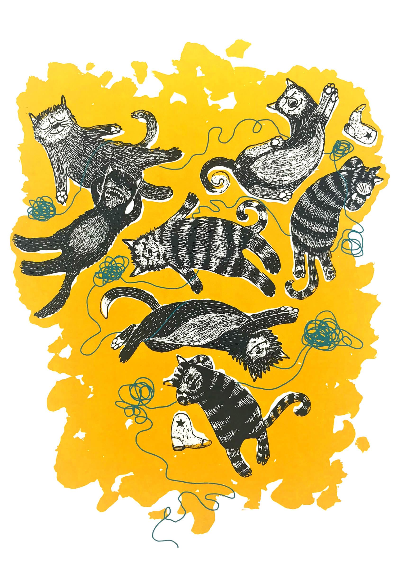 Siebdruck: Katzenjammer