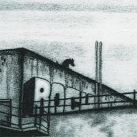 Radierung: Schellackfabrik